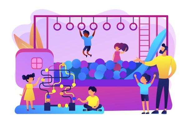 محیط بازی کودکان در فروشگاه برای افزایش فروش در فروشگاه ها
